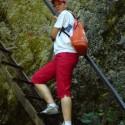 Jeden z množstva rebríkov v Jánošíkových dierach.