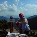 Martinka na vrchole Malého Rozsutca.