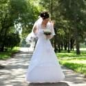 Pekný záber na svadobné šaty.