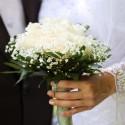 Detail na svadobnú kytičku.