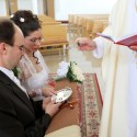 Posvätenie snubných prstienkov.