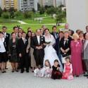 Spoločná svadobná fotografia.