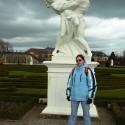 Pozoruhodná socha v Herrenhäuser Gärten.