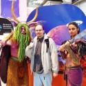 Jurko s postavami z WOW na výstave CeBIT.
